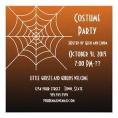 Creepy signs halloween invitation halloween invitations costume party halloween invitations stopboris Images