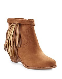 Fall Fashion   Tannery Tones   Louie Fringe Suede Bootie   Hudson's Bay