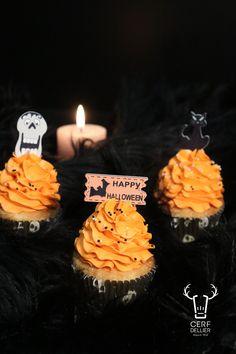 Pre-Cut Effrayant Zombie Baby-COMESTIBLES CUP Cake Toppers Halloween Décorations de fête