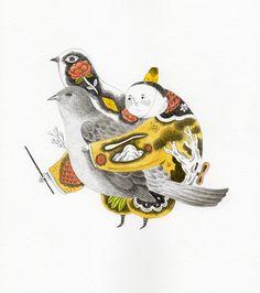 安徒生 / 夜鷹     /         「那是一隻機械夜鶯:它躺在盒子裡,看起來就像真鳥一樣,不過它是用黃金、白銀鑲上藍寶石、鑽石、紅寶石做成的。把它上緊發條,它就能唱出真夜鶯所唱過的某一首歌 」