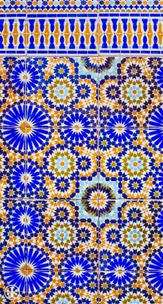 Typical Moroccan Zellij geometries. #Zellij #Patterns.