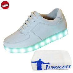 (Present:kleines Handtuch)Silber EU 42, Leuchtend JUNGLEST® mode LED Sneaker Dame