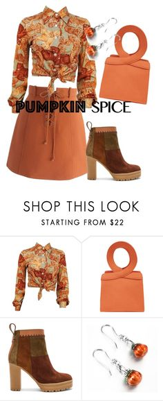 """""""Spiced up"""" by alma202 ❤ liked on Polyvore featuring Chicwish, See by Chloé, orange, autumn, spice and pumpkin"""