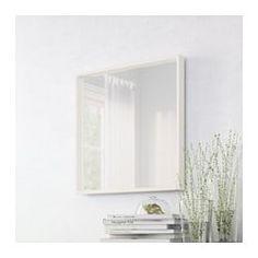 NISSEDAL Espelho, branco - 65x65 cm - IKEA