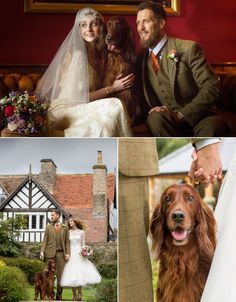 The Black Swan Hotel in North Yorkshire have put together this beautiful styled shoot featuring a gorgeous couple and a beautiful Irish red setter that completely steals the show!