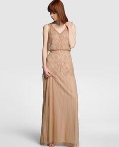 Vestido largo de mujer Tintoretto con bordado