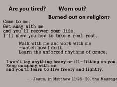 Are you tired? Worn out?