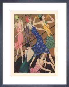 A Fashion Phantasy Art Print by Gordon Conway at King & McGaw  The Tatler, 20 June 1928.