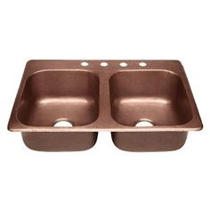 Sinkology Raphael Dual Mount Handmade Pure Solid Copper Double Bowl Kitchen Sink In Antique Is Designed To Fit Your Lifestyle
