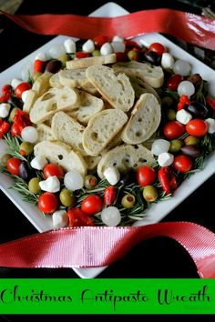 Christmas Antipasto Wreath from NoblePig.com.