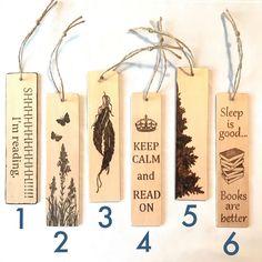 gift for book lovers Wood Burning Crafts, Wood Burning Patterns, Wood Burning Art, Wood Crafts, Creative Bookmarks, Custom Bookmarks, Bookmarks Kids, Handmade Bookmarks, Vintage Bookmarks