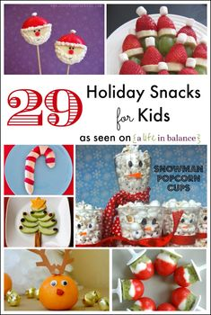 Holiday Snacks for Kids - I love the creativity here!  We're definitely trying these for after school snacks!