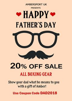 Father's Day sale up to 20% off?? Find the perfect boxing & fitness gear for Dad this Father's Day at Ambersport http://www.ambersport.co.uk/
