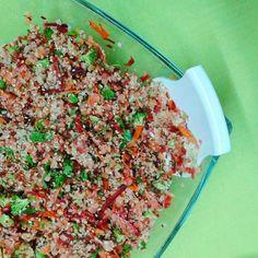 A Cozinha Verde: Salada de Lentilhas e Quinoa com Vinagrete de Limão e Cânhamo
