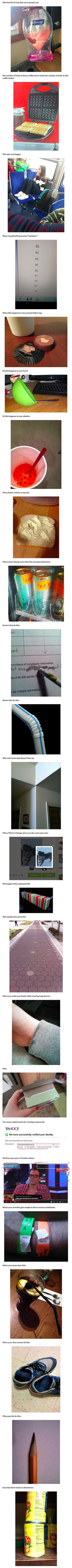24 of the most mildly infuriating things ever.  I got very frustrated reading this.  That wall. I could NOT live in that house with that wall. No. NO.:
