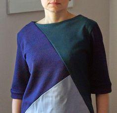 By Mondfee: Bluzka kolaż czyli co uszyć z resztek?