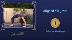 Level 2 This 40-minute Vinyasa flow practice focuses on using the strength of the legs to open up into backbends. Balancing…