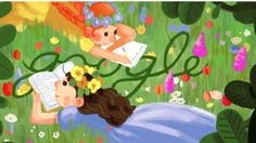 One of three Google Doodles marking the birthday of Anne of Green Gables author Lucy Maud Montgomery.