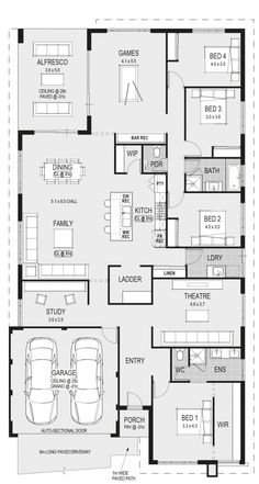 A nice layout! austin 1 floor plans in 2019 проекты домов, House Layout Plans, New House Plans, Dream House Plans, House Layouts, House Floor Plans, The Plan, How To Plan, Kings Home, Home Design Floor Plans