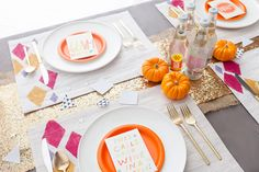 Here's how to make custom hand-stamped placemats for your next party.