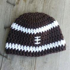 Baby Boy Crochet football pattern hat.   by MalindasDesigns, $12.00