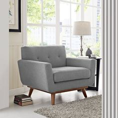 Engage Upholstered Armchair Engage Upholstered Armchair in Expectation Gray