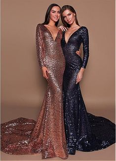 Lace Wedding Dresses, Brilliant Sequin Lace V-neck Neckline Long Sleeves Sheath/Column Evening Dress, Find your personal style and the perfect wedding dress for your special wedding day Party Dresses Uk, Designer Party Dresses, Ball Dresses, Occasion Dresses, Bridal Dresses, Ball Gowns, Prom Dresses, Formal Dresses, Pretty Dresses