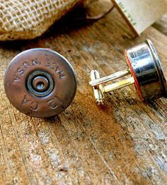 Shotgun Shell Cufflinks by Lord & Lady Co.  on Scoutmob Shoppe