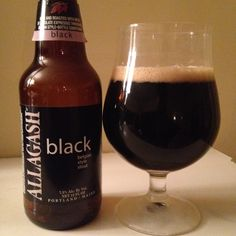 Allagash Black is a 7.5 ABV Belgian Strong Dark Ale.  The appearance is near black with a spicy dark fruit and roasted malt nose.  The flavor is similar, spicy, dark fruit and roasted malt notes.  Mouthfeel and carbonation are moderate and stoutlike.  I'm surprised it took me this long to review an Allagash, a top notch brewery out of Portland, Maine.  I will definitely be finding more.