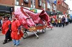 Paper Mache Barnaby Festival Dragon! RrrrrroooaaaaaAAARARRRR! Paper Mache, Baby Strollers, Dragon, Baby Prams, Papier Mache, Prams, Dragons, Strollers
