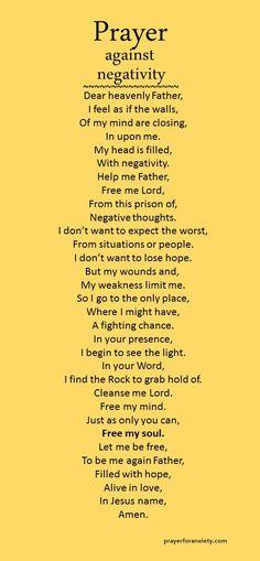 Prayer against negativity | Prayer For Anxiety