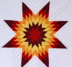 Always wanted to make one Lone Star Quilt Pattern, Barn Quilt Patterns, Star Quilt Blocks, Star Quilts, Quilting Projects, Quilting Ideas, Sewing Projects, Star Blanket, Log Cabin Quilts