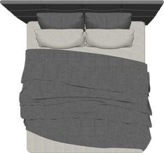california_king bed_interior design_furniture_top View_architecture cutout_freebies