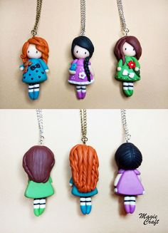 Doll Necklace insp. by Gorjuss, Polymer Clay - Collana Bambolina Gorjuss in fimo