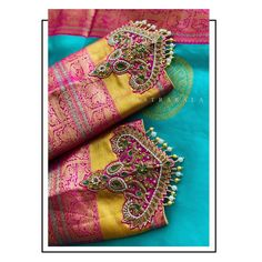 Pattu Saree Blouse Designs, Blouse Designs Silk, Designer Blouse Patterns, Bridal Blouse Designs, Kids Blouse Designs, Hand Work Blouse Design, Stylish Blouse Design, Lehenga Designs Simple, Sleeves Designs For Dresses