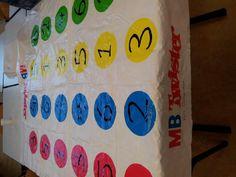 De getallen springen. Bijvoorbeeld: 2 + 1 = ... Lln. springen op een cirkel met het getal 3 in. #bewegend leren