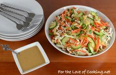 Thai Crunch Salad with Peanut Sauce