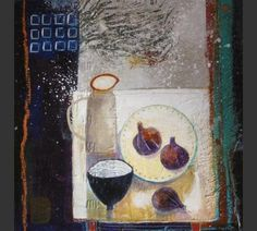 Anuk Naumann - Still Life 2, Painting Still Life, Naive Art, Mixed Media Painting, Various Artists, Life Inspiration, All Art, Abstract Art, Projects To Try