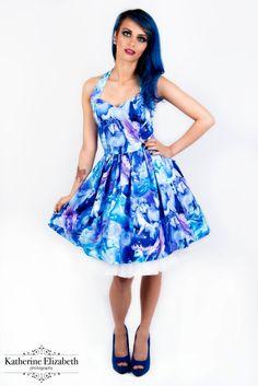 Unicorn dress-pastel goth, mystical, trippy women's halterneck