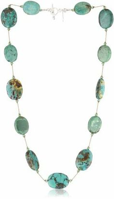 """Margo Morrison New York """"Turquoise"""" Necklace, 18"""" Margo Morrison New York. $225.00. Made in USA. Natural turquoise, swarovski crystal, great color and textture, hand knotted. Margo Morrison's signature feminine faceted semi-precious stones and pearls. Has a feeling of fine jewelry. Made by hand in Margo's NYC studio"""
