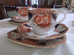 Stunning Bell China imari tea cup saucer & by Collectablesgalore, £14.50
