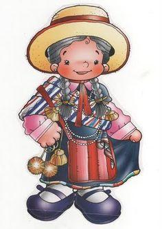 Dibujos Bailes Chile, cueca, jota, Sau Sau, etc National Holidays, Life Planner, Folklore, Princess Peach, Smurfs, Drawings, Anime, Fictional Characters, Teacher