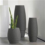 Vase : gris, céramique, h.40x9cm (508993)