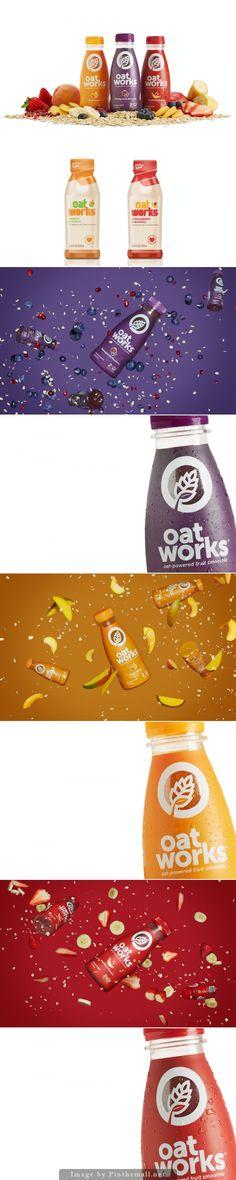 Oatworks Fruit Smoothie rebranding