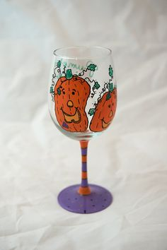 Pumpkin Juice Wine Glass