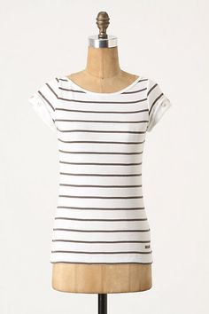 0a431796 Montaigne Tee by Le Phare de la Baleine Anthropologie Brands, Striped Tee,  Stripe Shirts