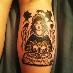gypsy fortune teller with ouija board and spirits