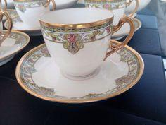 Ancien service a cafe porcelaine de limoges signé leon sazerat | eBay!