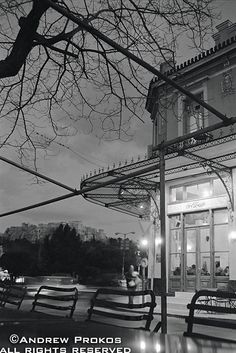 Thission at Night, Athens - http://andrewprokos.com