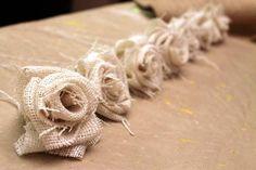 Burlap Flowers : DIY How To Make a Burlap Flower